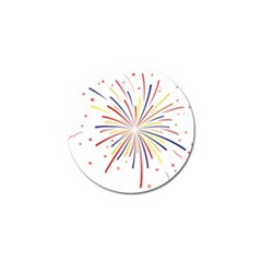 Graphic Fireworks Decorative Golf Ball Marker
