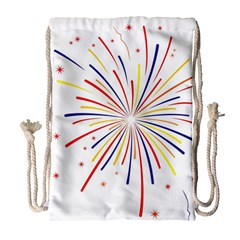 Graphic Fireworks Decorative Drawstring Bag (large) by AnjaniArt