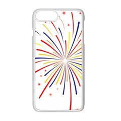 Graphic Fireworks Decorative Apple Iphone 8 Plus Seamless Case (white) by AnjaniArt