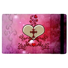 Wonderful Hearts With Floral Elements Ipad Mini 4 by FantasyWorld7
