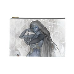 Beautiful Fairy With Swan Cosmetic Bag (large)