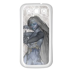Beautiful Fairy With Swan Samsung Galaxy S3 Back Case (white)