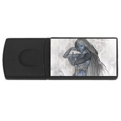 Beautiful Fairy With Swan Rectangular Usb Flash Drive