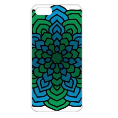 Green Blue Mandala Vector Apple Iphone 5 Seamless Case (white) by Alisyart