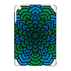 Green Blue Mandala Vector Apple Ipad Mini Hardshell Case (compatible With Smart Cover) by Alisyart