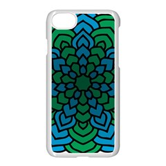 Green Blue Mandala Vector Apple Iphone 8 Seamless Case (white) by Alisyart