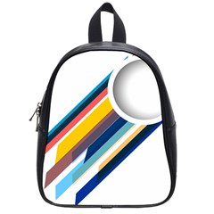 Vector Geometric Polygons And Circles School Bag (small) by Mariart