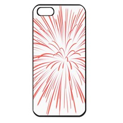 Red Firework Transparent Apple Iphone 5 Seamless Case (black)
