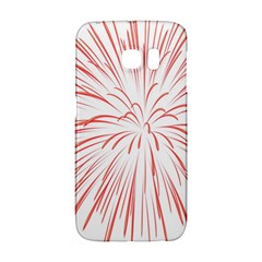 Red Firework Transparent Samsung Galaxy S6 Edge Hardshell Case by Jojostore