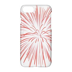 Red Firework Transparent Apple Iphone 8 Hardshell Case by Jojostore
