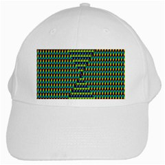 Kaleidoscope Art Unique White Cap by AnjaniArt