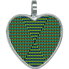 Kaleidoscope Art Unique Heart Necklace by AnjaniArt
