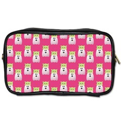 Ghost Pet Pink Toiletries Bag (two Sides)