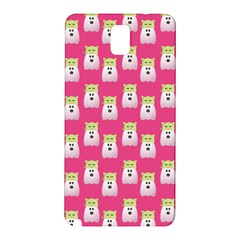 Ghost Pet Pink Samsung Galaxy Note 3 N9005 Hardshell Back Case