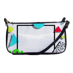 Abstract Geometric Triangle Dots Border Shoulder Clutch Bag by Alisyart