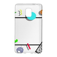 Abstract Geometric Triangle Dots Border Samsung Galaxy Note Edge Hardshell Case