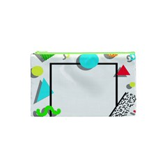 Abstract Geometric Triangle Dots Border Cosmetic Bag (xs)