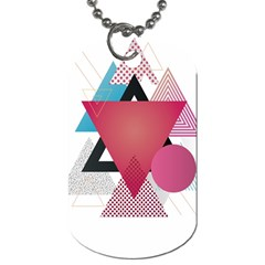Geometric Line Patterns Dog Tag (two Sides) by Mariart