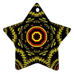 Mosaic Yellow Star Star Ornament (two Sides) by Jojostore