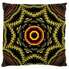 Mosaic Yellow Star Standard Flano Cushion Case (two Sides) by Jojostore