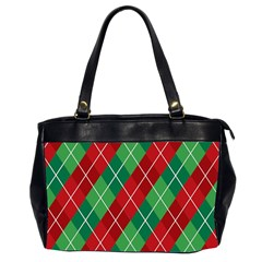 Christmas Triangle Oversize Office Handbag (2 Sides) by AnjaniArt