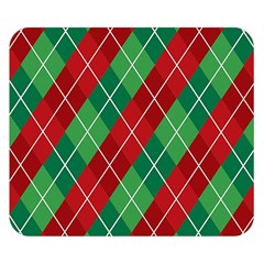 Christmas Triangle Double Sided Flano Blanket (small)  by AnjaniArt