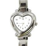 Bright Modern Interlace Pattern Heart Italian Charm Watch Front