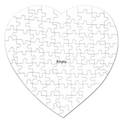 Bright Modern Interlace Pattern Jigsaw Puzzle (heart) by dflcprintsclothing