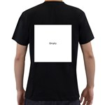 Radial Blur Estiq Spiral Men s T-Shirt (Black) (Two Sided) Back