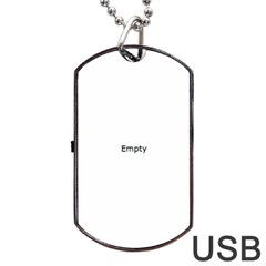 Radial Blur Estiq Spiral Dog Tag Usb Flash (one Side)