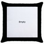 Radial Blur Estiq Spiral Throw Pillow Case (Black) Front