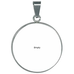Radial Blur Estiq Spiral 30mm Round Necklace