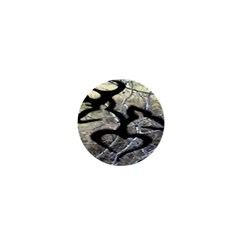 Black Love Browning Deer Camo 1  Mini Buttons