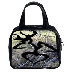 Black Love Browning Deer Camo Classic Handbag (two Sides) by Bejoart
