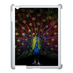 Beautiful Peacock Feather Apple Ipad 3/4 Case (white) by Bejoart