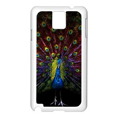 Beautiful Peacock Feather Samsung Galaxy Note 3 N9005 Case (white) by Bejoart