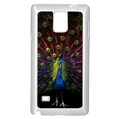 Beautiful Peacock Feather Samsung Galaxy Note 4 Case (white) by Bejoart