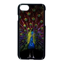 Beautiful Peacock Feather Apple Iphone 7 Seamless Case (black) by Bejoart