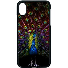 Beautiful Peacock Feather Apple Iphone X Seamless Case (black)
