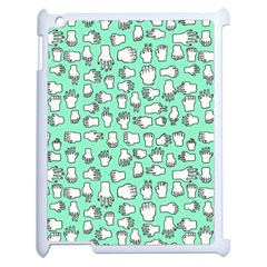 Hand Cute Apple Ipad 2 Case (white)