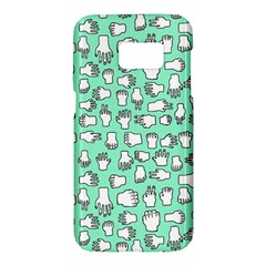 Hand Cute Samsung Galaxy S7 Hardshell Case  by Alisyart