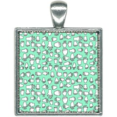 Hand Cute Square Necklace by Alisyart