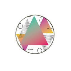 Pink Abstract Triangle Hat Clip Ball Marker (10 Pack)