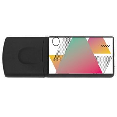 Pink Abstract Triangle Rectangular Usb Flash Drive