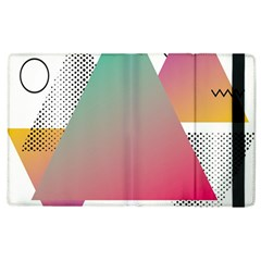 Pink Abstract Triangle Apple Ipad 3/4 Flip Case by Jojostore