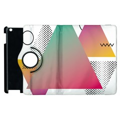 Pink Abstract Triangle Apple Ipad 3/4 Flip 360 Case