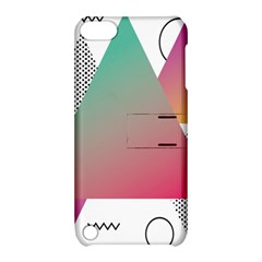 Pink Abstract Triangle Apple Ipod Touch 5 Hardshell Case With Stand by Jojostore