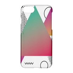 Pink Abstract Triangle Apple Iphone 8 Hardshell Case by Jojostore