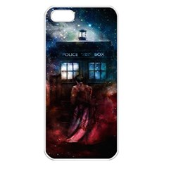 Doctor Who Tardis In Space Apple Iphone 5 Seamless Case (white)