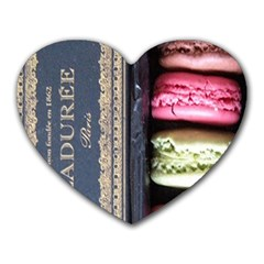Laduree Macaron Paris Heart Mousepads by Bejoart